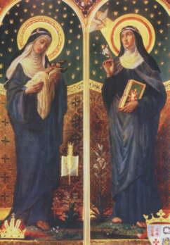 Święta Brygida z córką, św. Katarzyną