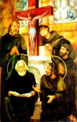 Święci Benedykt, Jan, Mateusz, Izaak i Krystyn